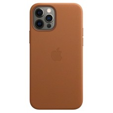 Чохол Apple Leather Case with MagSafe (Saddle Brown)  для iPhone 12 Pro Max ( MHKL3ZM/A )