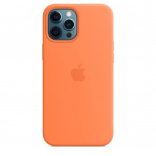 Apple Silicone Case with MagSafe (Kumquat)  для iPhone 12 Pro Max ( MHLG3ZM/A ) - High copy