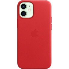 Apple Leather Case для iPhone 12 mini — (PRODUCT) Red