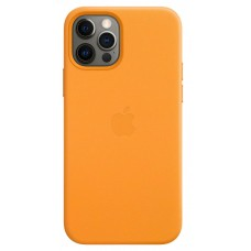 Чохол Apple для iPhone 12/12 Pro Leather Case with MagSafe California Poppy (MHKC3ZE/A)