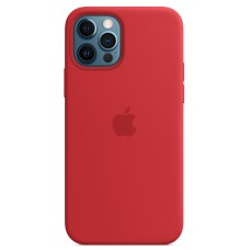 Чохол Apple Silicone Case with MagSafe (PRODUCT) RED  для iPhone 12 Pro Max ( MHLF3ZM/A )