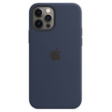 Apple Silicone Case with MagSafe (Deep Navy)  для iPhone 12 Pro Max ( MHLG3ZM/A ) - High copy