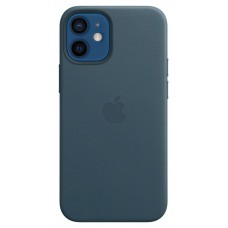 Apple Leather Case для iPhone 12 mini — Baltic Blue