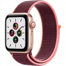 Apple Watch SE GPS + Cellular 40mm Gold Aluminum Case with Plum Sport Loop (MYEC2/MYEJ2)