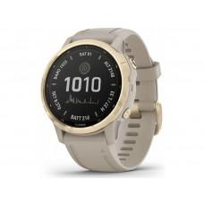 Смарт-часы Garmin Fenix 6S Pro Solar Lt. Gold w/ Lt. Sand Band